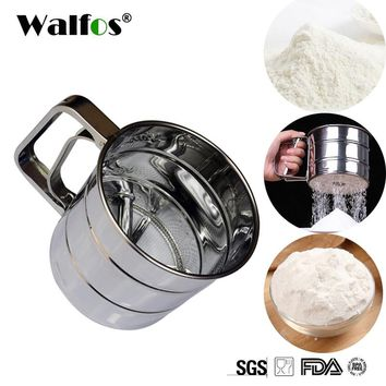 Free Shipping 1 PC High Quality Sifter Cup Sieve Mesh Powder Flour Sieve Stainless Steel Screen Baking Tools