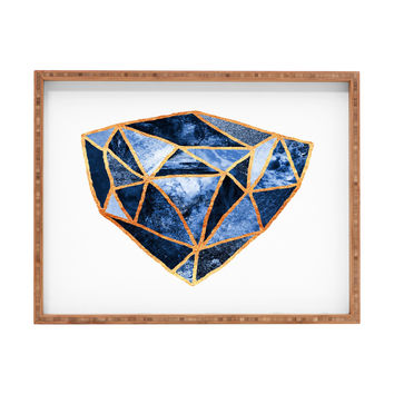 Elisabeth Fredriksson Blue Rock Rectangular Tray
