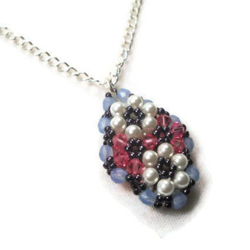 Flower Beaded Pendant