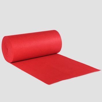 Polyester Red Carpet Wedding Aisle Floor Runner Graduation Celebration Party Opening Ceremony Events Decoration 1200X100cm