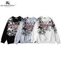 Burberry 2018 autumn and winter new graffiti printing round neck long-sleeved sweater