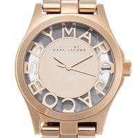 Marc by Marc Jacobs Watches Women's Henry Cut Out Logo Watch, 40mm - Gold
