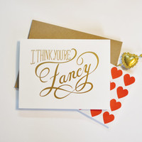 You're Fancy - 6 Foil Stamp Cards