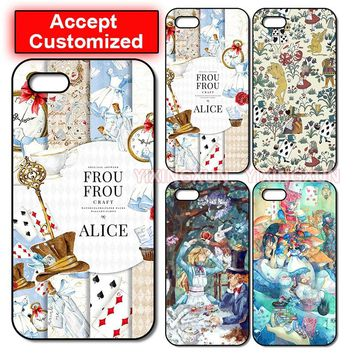 New Alice In Wonderland Case Cover for iPhone 5 5S SE 6 6S 7 8 Plus X XS Max XR Samsung Galaxy Note 8 9 S6 S7 S8 S9 Edge Plus