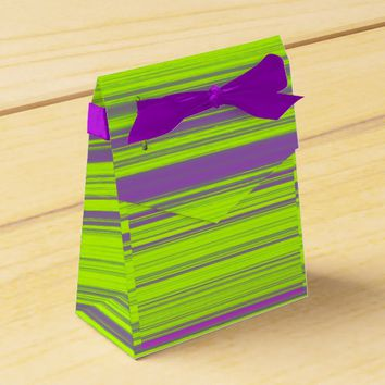 Purple and Green Stripes Favor Box