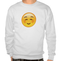 White Smiling Face Emoji Sweatshirt