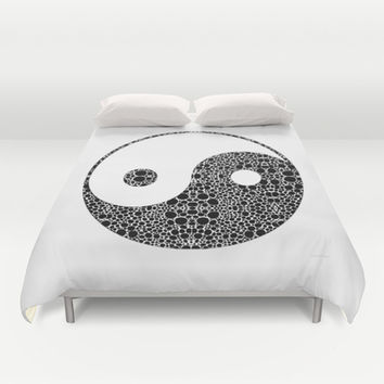 Perfect Balance 1 - Yin and Yang Stone Rock'd Art by Sharon Cummings Duvet Cover by Sharon Cummings