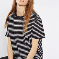 Stripe Nibbled T-Shirt - Tops - Clothing