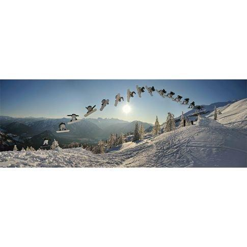 Snowboard Stop Motion Wall Mural