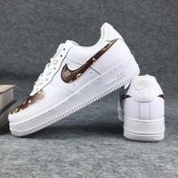 NIKE Air LV Foce Men Running Sport Casual Shoes Sneakers Air force White G-CSXY