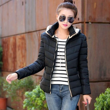 Winter Jacket Women Coats Thick New 2015 Winter Coat Women Parkas Hooded Coat Woman Outwear = 1930347268