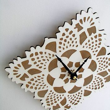 small wall clock doily clock