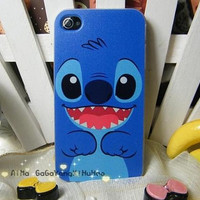iphone 4 case, iphone 4s case, case cover s for iphone 4/4s - cute stich iphone case covers