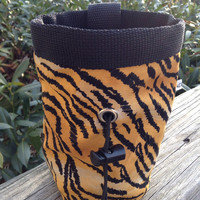 Tiger print Chalk Bag for Climbing