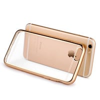 6s/6s Plus Transparent Plating Flexible Crystal Silicon Funda Case For Apple iPhone 6 6S 4.7/6 Plus 6S Plus 5.5 Slim Back Cover