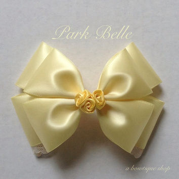 beauty and the beast hair bow