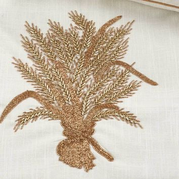 Beaded Harvest Table Runner 72-Inch