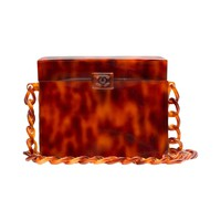 Chanel Vintage Tortoiseshell Plexiglass Box Bag