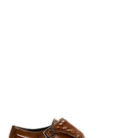 Alexander Mcqueen Brown Studded Monk Strap Shoes