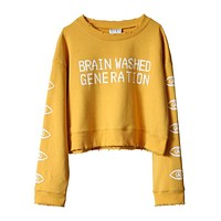 """Brain Washed Generation"" Oversized Pullover"
