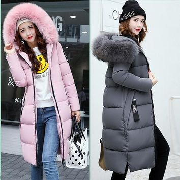 High Quality Women's Cotton-padded Jacket Winter Medium-Long Down Cotton Jacket Female Slim Ladies Jackets and Coats Plus S