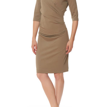 3/4 Sleeve Ruched Dress