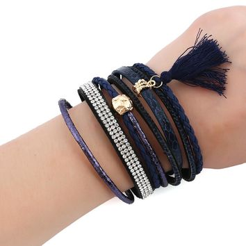 Awesome New Arrival Hot Sale Gift Great Deal Shiny Stylish Magnet Diamonds Tassels Bracelet [11745007055]