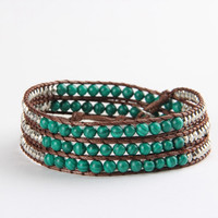 Green Turquoise Mix Wrap Bracelet