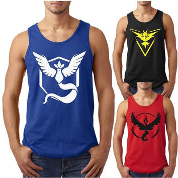 Pokemon Team Print Sleeveless Top