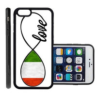RCGrafix Brand Italy Flag Italian Apple Iphone 6 Plus Protective Cell Phone Case Cover - Fits Apple Iphone 6 Plus