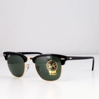 RAY-BAN RB 3016 W0365 49/00 Black / Gold Frame SUNGLASSES