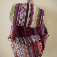 90s mexican print backpack vintage 1990s grunge ethnic print book bag hippie boho tote festival backpack southwest guatemalan print purse