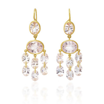"One-Of-A-Kind Morganite ""Precious Chandelier"" Earrings 