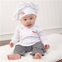 "Baby Aspen ""Big Dreamzzz"" Baby Chef Three Piece Layette in Culinary Themed Gift Box - Giftsets : lilylimes"
