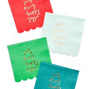 Holiday Joy Cocktail Napkins