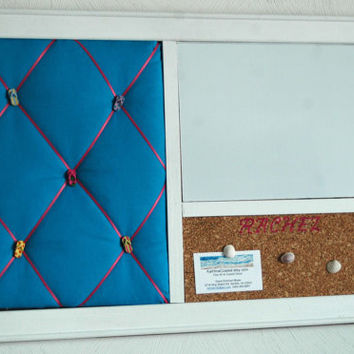 Flip Flop  French Memo Board,  Corkboard, & Whiteboard  Wall Organizer