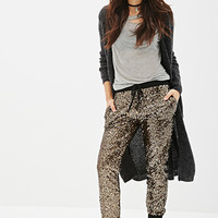 Sequined Drawstring Joggers