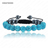 Shambala 10mm Crystal and Clay Bracelet (Various colors)