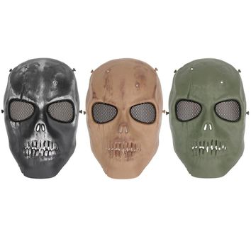 Horror Terminator Helmet Masks CS Paintball Ghost Creepy Resin Halloween Masquerade Party Cosplay Skull Cycling Full Face Mask