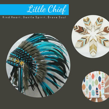 Infant and Children Dress Up Little Indian Pow Wow Chief Indian Headdress, kids feather headdress, native american headdress, kids warbonnet