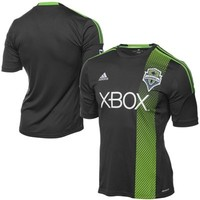 adidas Seattle Sounders FC Replica Away Game Performance Jersey - Black