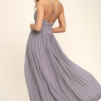Depths of My Love Light Purple Maxi Dress