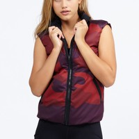 Vector Silk Camo Tech Print Vest in Burgundy by Ultracor | Tops | BANDIER