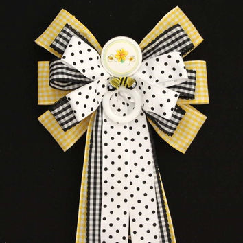 Yellow Bumble Bee Baby Shower Bow