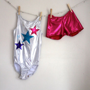 Girls Star Gymnastic Leotard 2t, 3t, 4t, 5t, 6, 7, 8, 9, 10, 11, 12, 13, 14
