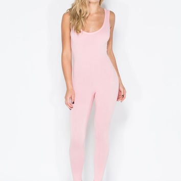 Double Scoop Sleeveless Jumpsuit