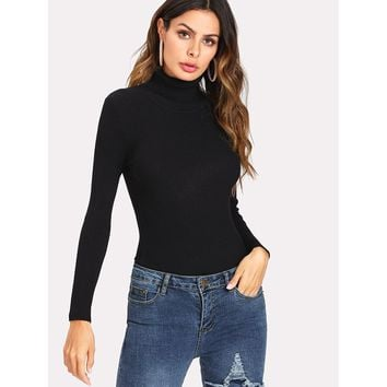 Ribbed Fitting Jumper
