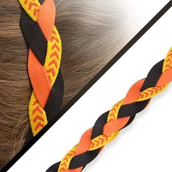 Softball Stitch Headband- Orange