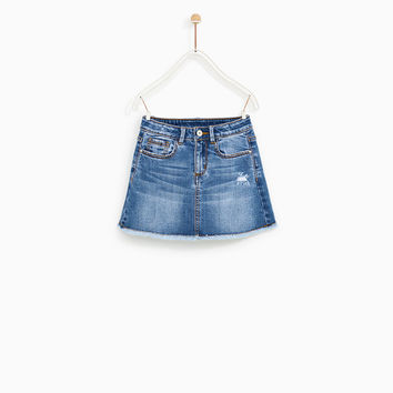 BASIC DENIM SKIRT