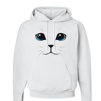 Blue-Eyed Cute Cat Face Hoodie Sweatshirt